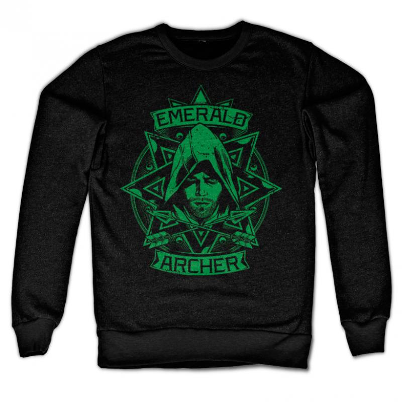 Arrow černá mikina s potiskem Emerald Archer