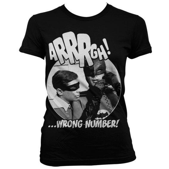 Batman stylové dámské tričko s potiskem Arrrgh - Wrong Number