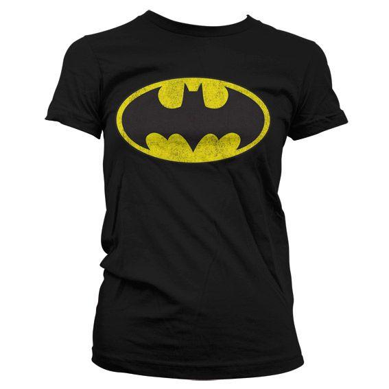 Batman stylové dámské tričko s potiskem Distressed Logo