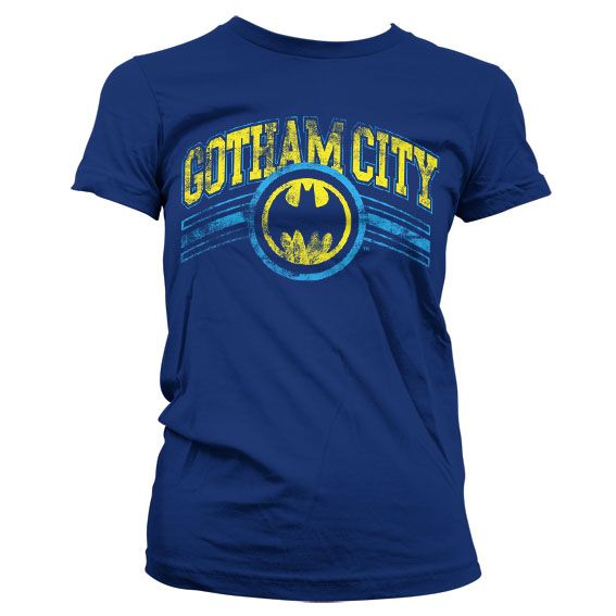 Batman stylové dámské tričko s potiskem Gotham City