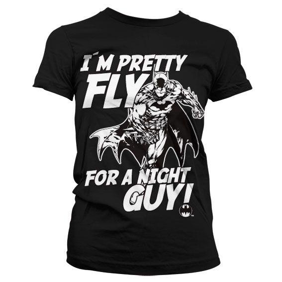 Batman stylové dámské tričko s potiskem I´m Pretty Fly For A Night Guy