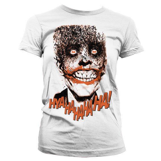 Batman stylové dámské tričko s potiskem The Joker - HyaHaHaHa