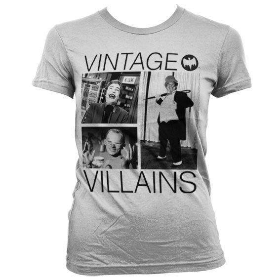 Batman stylové dámské tričko s potiskem Vintage Villains