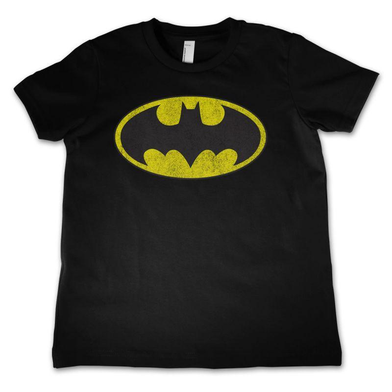 Batman stylové dětské tričko s potiskem Distressed Logo