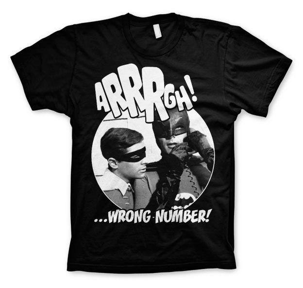 Batman stylové pánské tričko s potiskem Arrrgh - Wrong Number