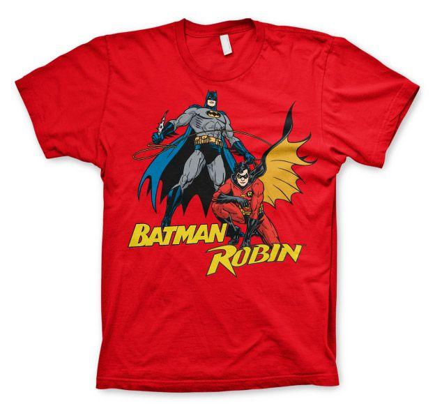 Batman stylové pánské tričko s potiskem Batman & Robin