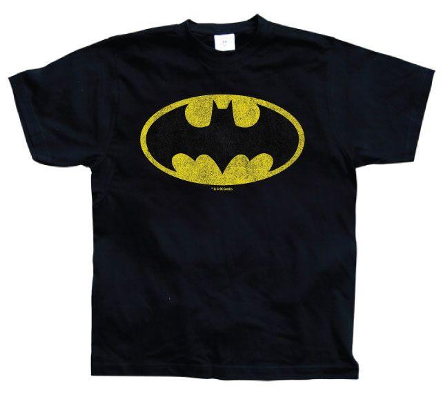 Batman stylové pánské tričko s potiskem Distressed Logo