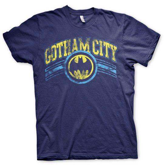 Batman stylové pánské tričko s potiskem Gotham City