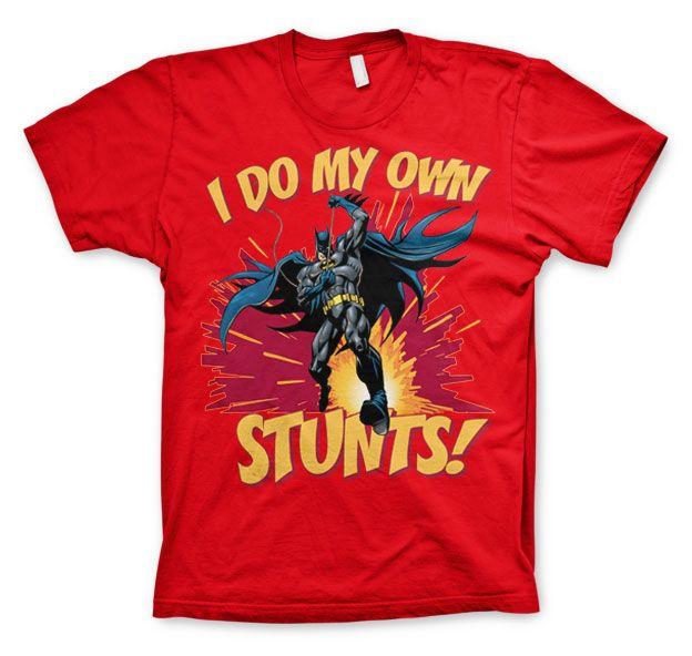 Batman stylové pánské tričko s potiskem I Do My Own Stunts