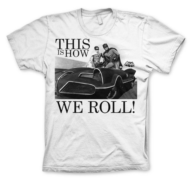 Batman stylové pánské tričko s potiskem This Is How We Roll