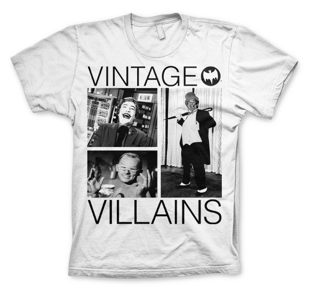 Batman stylové pánské tričko s potiskem Vintage Villains