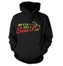 Černá mikina s kapucí Better Call Saul Logo