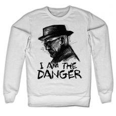 Bílá mikina Perníkový táta I Am The Danger