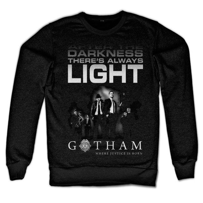Gotham mikina s potiskem Afther Darkness , klasický střih