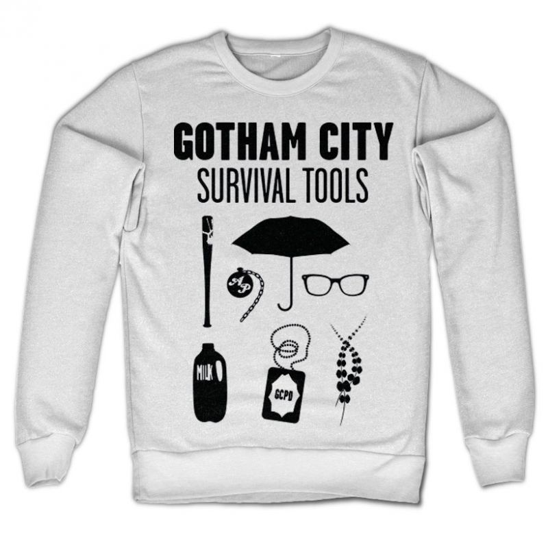 Gotham mikina s potiskem Survival Tools , klasický střih