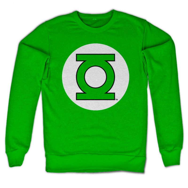 Green Lantern mikina s potiskem Logo , klasický střih