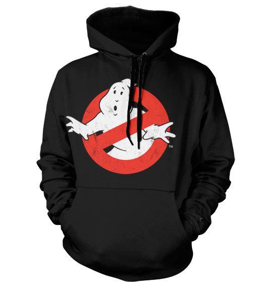 Hoodie mikina s humorným potiskem a kapucí Ghostbusters Distressed Logo