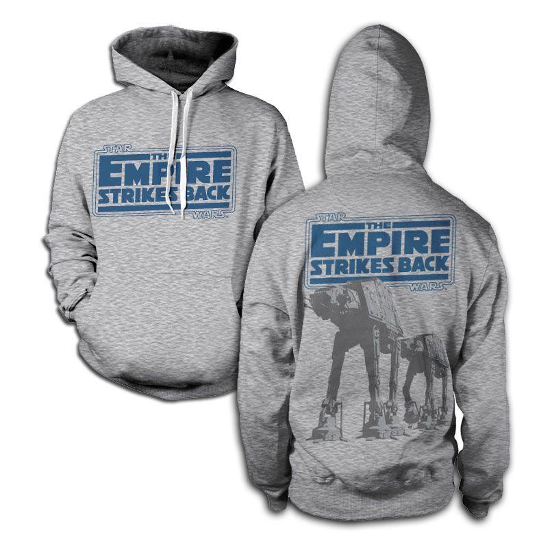 Hoodie mikina s kapucí Star Wars a potiskem Empire Strikes Back AT-AT , stylová mikina