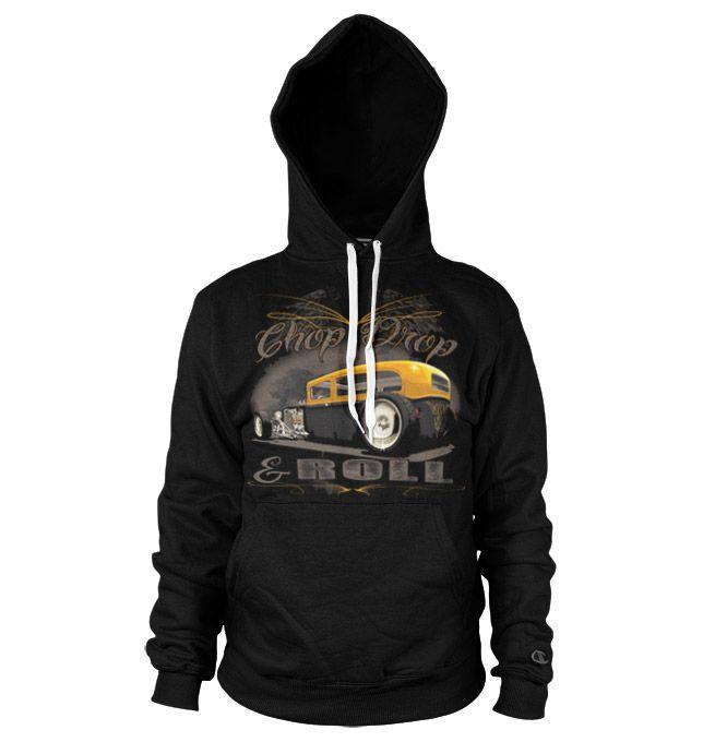 Hot Rod & Bikers hoodie mikina s kapucí a potiskem Chop, Chop & Roll