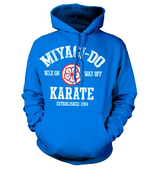 Karate Kid hoodie mikina s kapucí a potiskem Miyagi-Do Karate 1984
