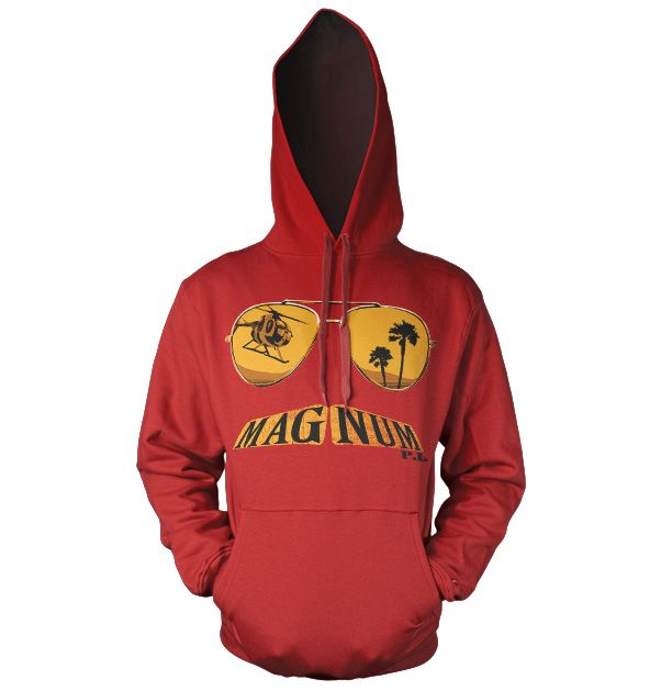 Magnum hoodie mikina s kapucí a potiskem Mustache And Shades