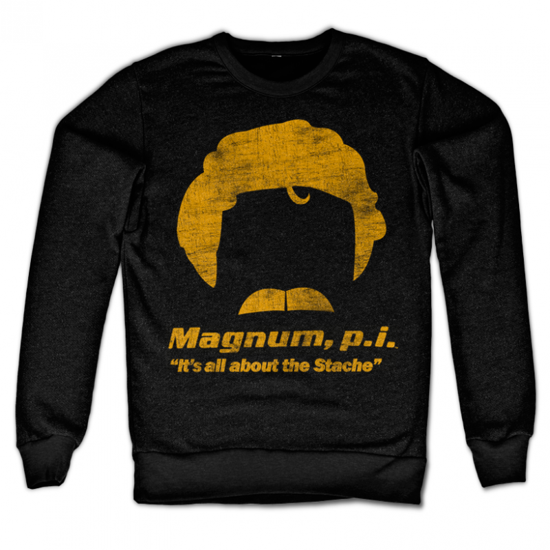 Magnum stylová mikina s potiskem PL All About The Stache