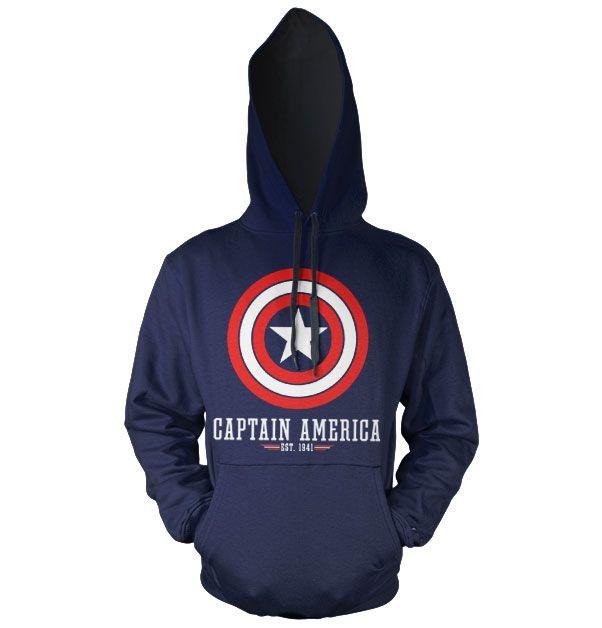 Marvel Comics hoodie mikina s kapucí a potiskem Captain America Logo