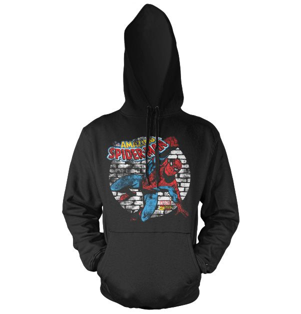 Marvel Comics hoodie mikina s kapucí a potiskem Distressed Spider-Man
