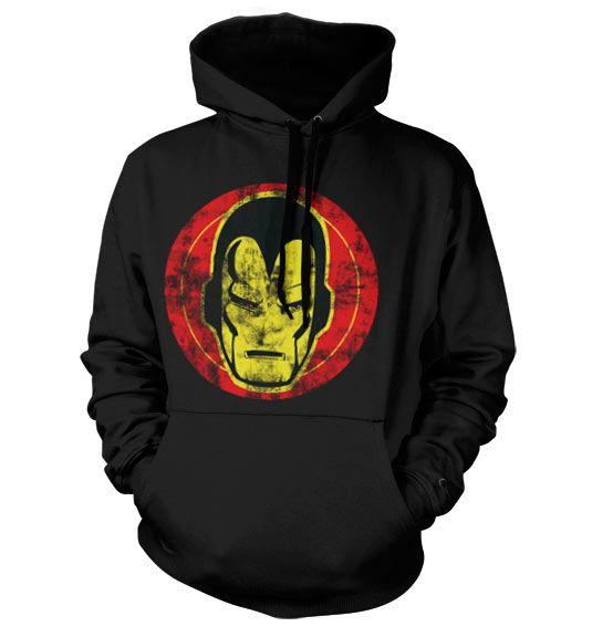 Marvel Comics hoodie mikina s kapucí a potiskem Iron Man Icon