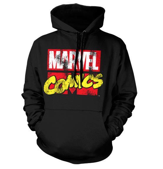 Marvel Comics hoodie mikina s kapucí a potiskem Marvel Retro Logo