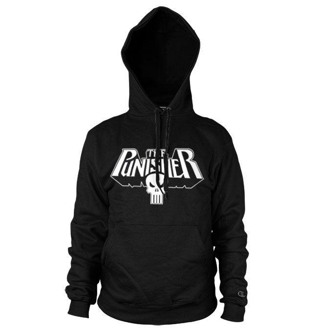 Marvel Comics hoodie mikina s kapucí a potiskem The Punisher Logo