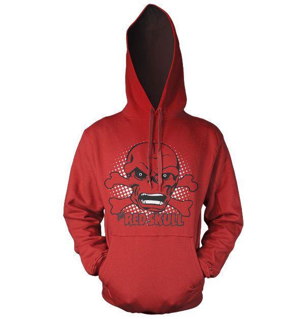 Marvel Comics hoodie mikina s kapucí a potiskem The Red Skull