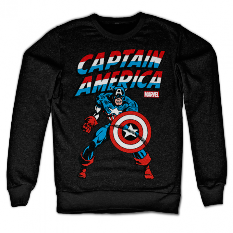 Marvel Comics stylová mikina s potiskem Captain America