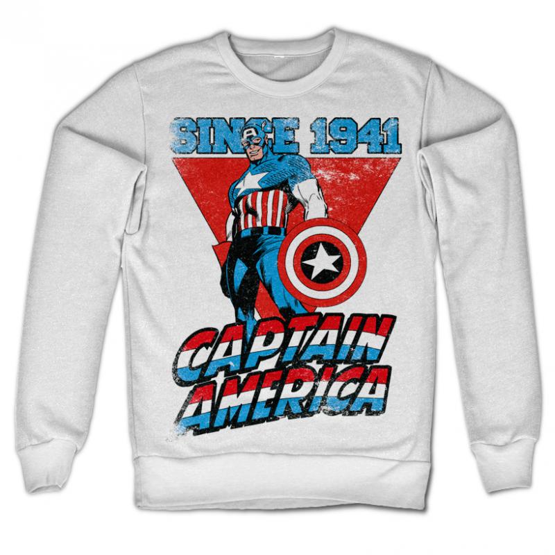 Marvel Comics stylová mikina s potiskem Captain America Since 1941