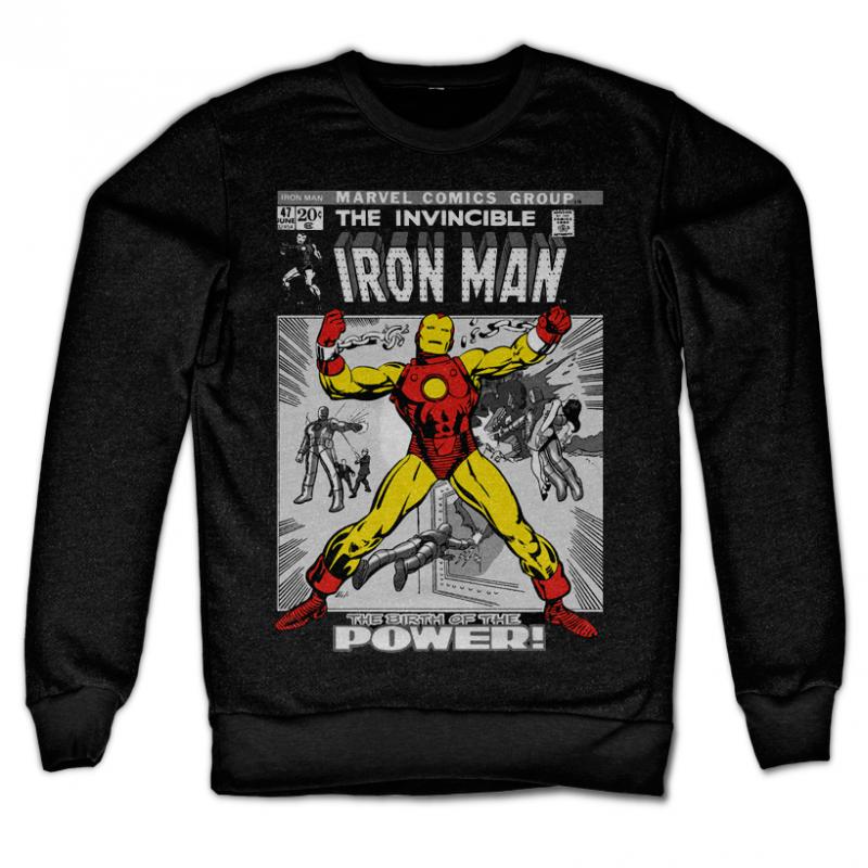 Marvel Comics stylová mikina s potiskem Iron Man Cover