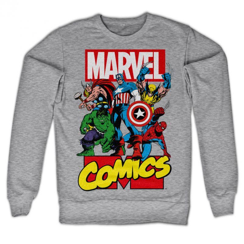 Marvel Comics stylová mikina s potiskem Marvel Heroes