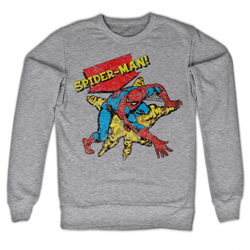 Marvel Comics stylová mikina s potiskem Retro Spider-Man