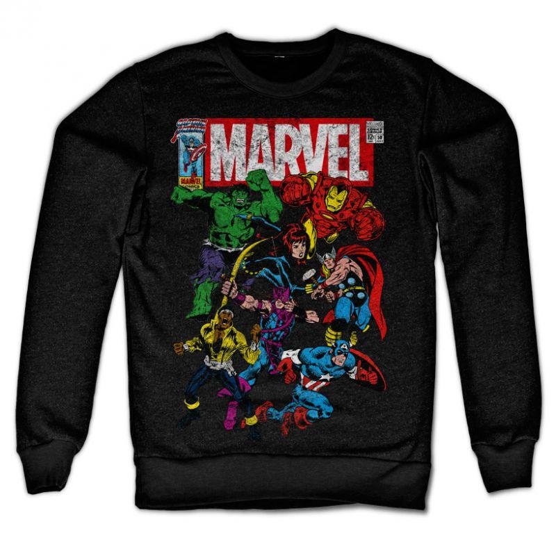 Marvel Comics stylová mikina s potiskem Team-Up