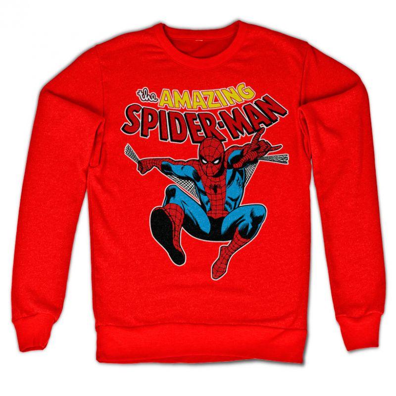 Marvel Comics stylová mikina s potiskem The Amazing Spiderman