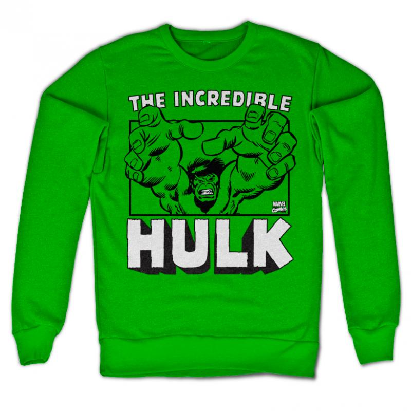 Marvel Comics stylová mikina s potiskem The Incredible Hulk