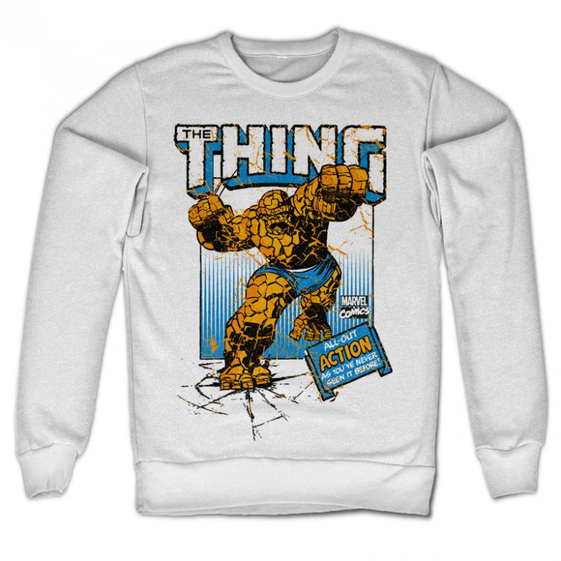 Marvel Comics stylová mikina s potiskem The Thing Action