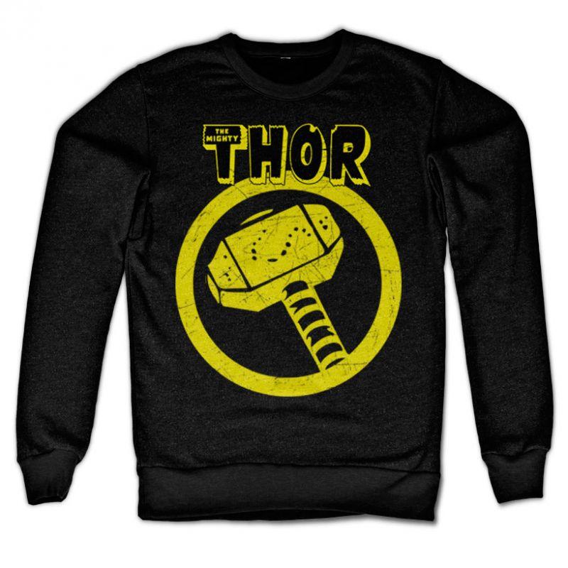 Marvel Comics stylová mikina s potiskem Thor Distressed Hammer