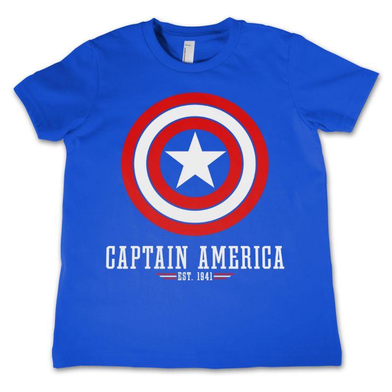 Marvel dětské tričko s potiskem Captain America Logo