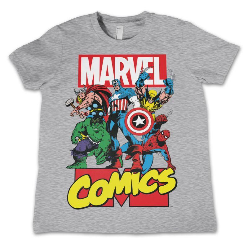 Marvel dětské tričko s potiskem Marvel Comics Heroes