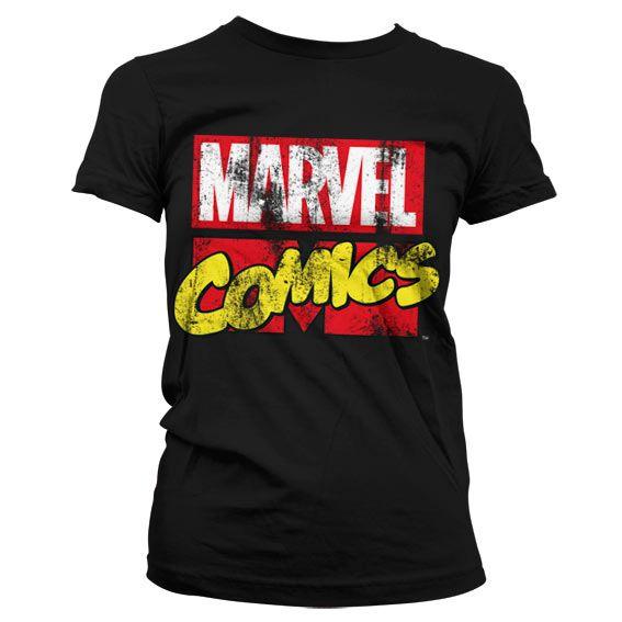 Marvel módní dámské tričko s potiskem Comics Retro Logo