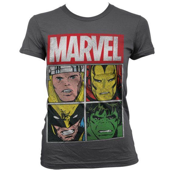 Marvel módní dámské tričko s potiskem Distressed Characters