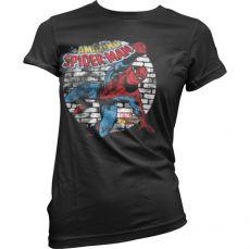 Stylové dámské triko Distressed Spider-Man