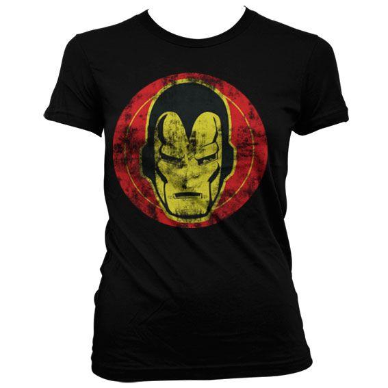 Marvel módní dámské tričko s potiskem Iron Man Icon