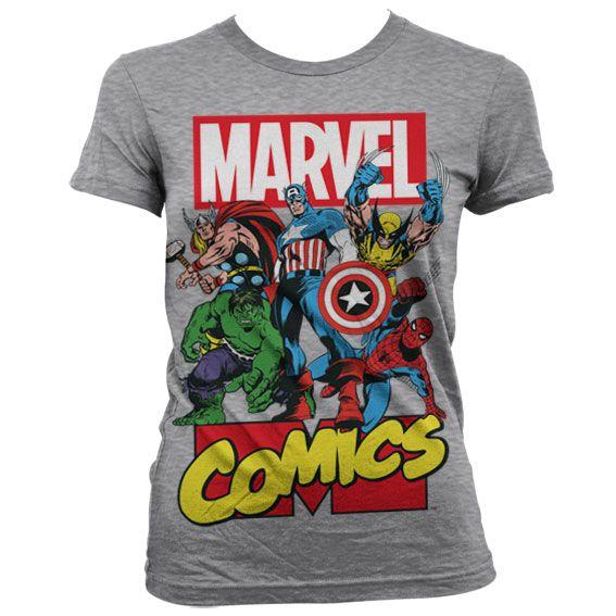 Marvel módní dámské tričko s potiskem Marvel Comics Heroes