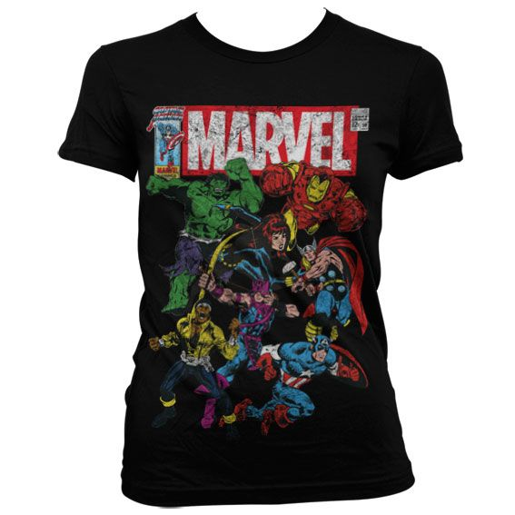 Marvel módní dámské tričko s potiskem Team-Up